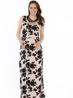 Maxi Busy Mama Nursing Dress - Floral in Pink