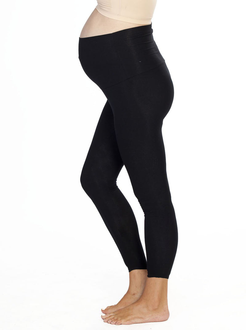 Maternity Foldable Waist Band Tight 7/8 Length Legging