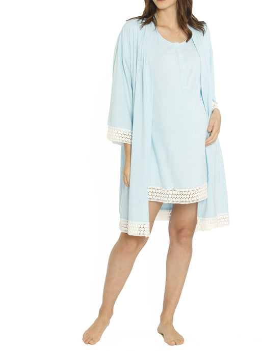 Ruby Joy Mommy Sleep Robe  - Blue