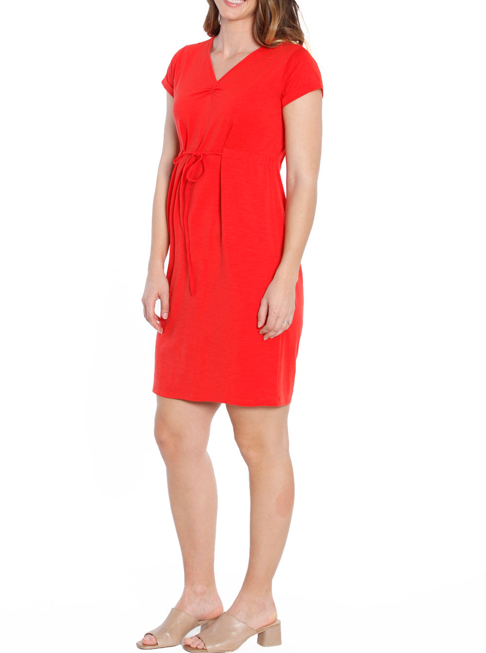 TMD - The Mommy Drawstring Dress - Chili Red