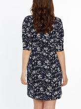 The Mommy Drawstring Half Sleeve Dress - Floral Print