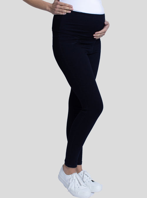 Maternity High Waist Deluxe Jegging - Denim