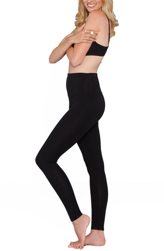 Postpartum Tummy Tight Control Capri Built-In Shaping Full Legging