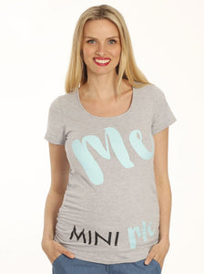 Maternity Slogan Fitted Tee - Me & Mini Me