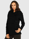 Nursing Hoodie Breastfeeding Top - Black & Gray main
