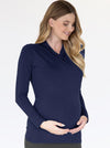 Maternity V-Neck Crossover Bamboo Long Sleeve Top
