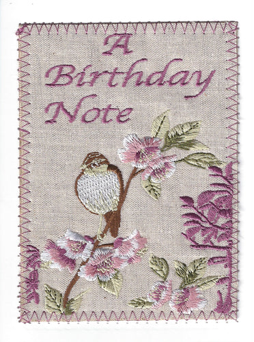 Sweet Bird and Pink Flowers - BD246P