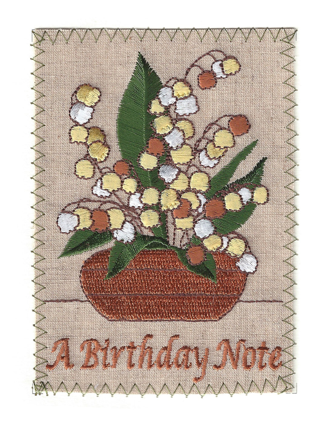 Birthday Note Flower Pot - BD097P