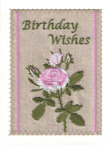 Birthday Wishes Pink and White Flowers - BD117P