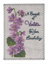 Birthday Bouquet of Violets - BD130P
