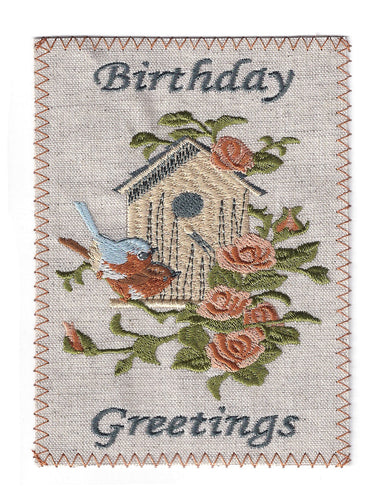 Birthday Birdhouse and Flowers - BD154P
