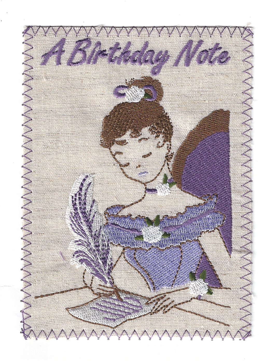 Woman Penning Birthday Letter - BD157P