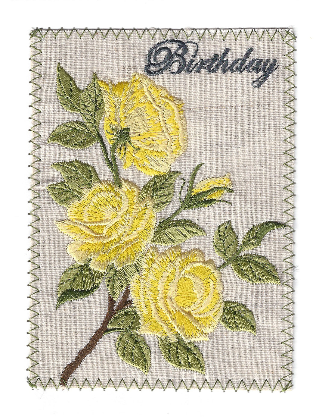 Yellow Roses Birthday Card - BD166P