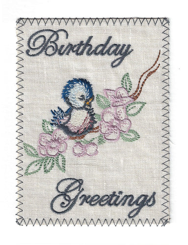 Charming Little Bird on Flowery Branch - BD173P