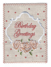 Peach Tone Flowers Birthday Greetings - BD179P