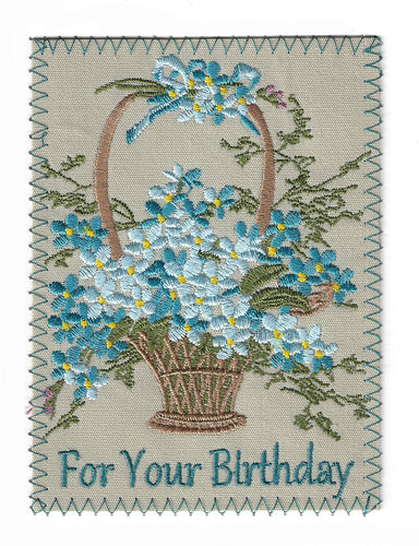 Basket of Flowers Birthday Note - BD191P