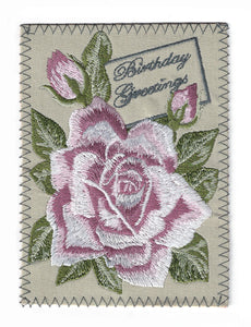 Large Pink Rose Birthday Greetings - BD193P