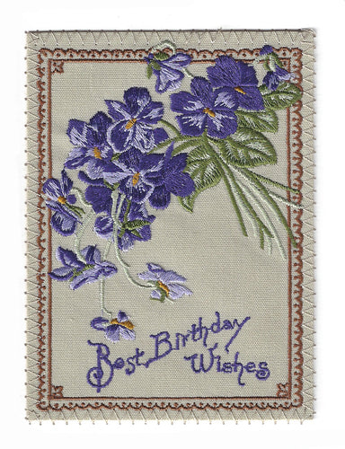 Lavender Flowers Birthday Wishes - BD194P