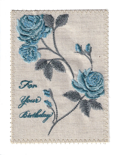 Blue Roses Birthday Card - BD201P