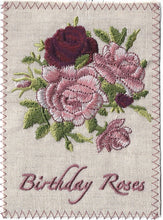 Birthday Roses in Dark Burgundy - BD217P