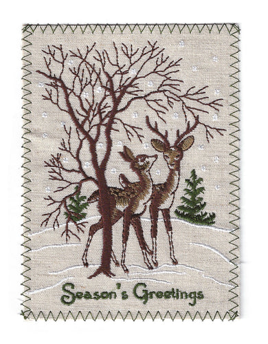 Seasons Greetings Christmas Deer - C177P