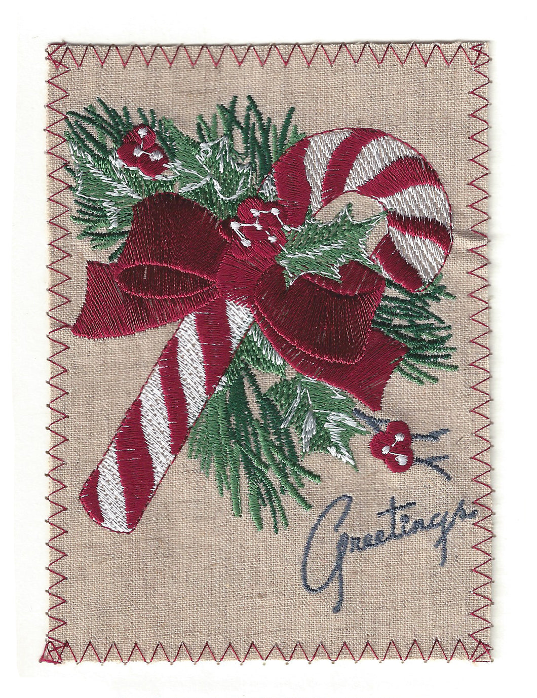 Candy Cane Christmas With Red Bow - C187P