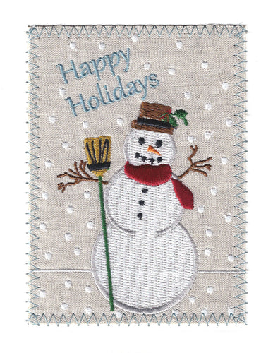 Happy Holidays Snowman - C218P