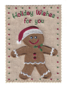 Gingerbread Man Holiday Wishes - C237P
