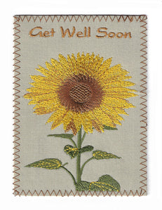 Embroidered Yellow Sunflower - GW192P