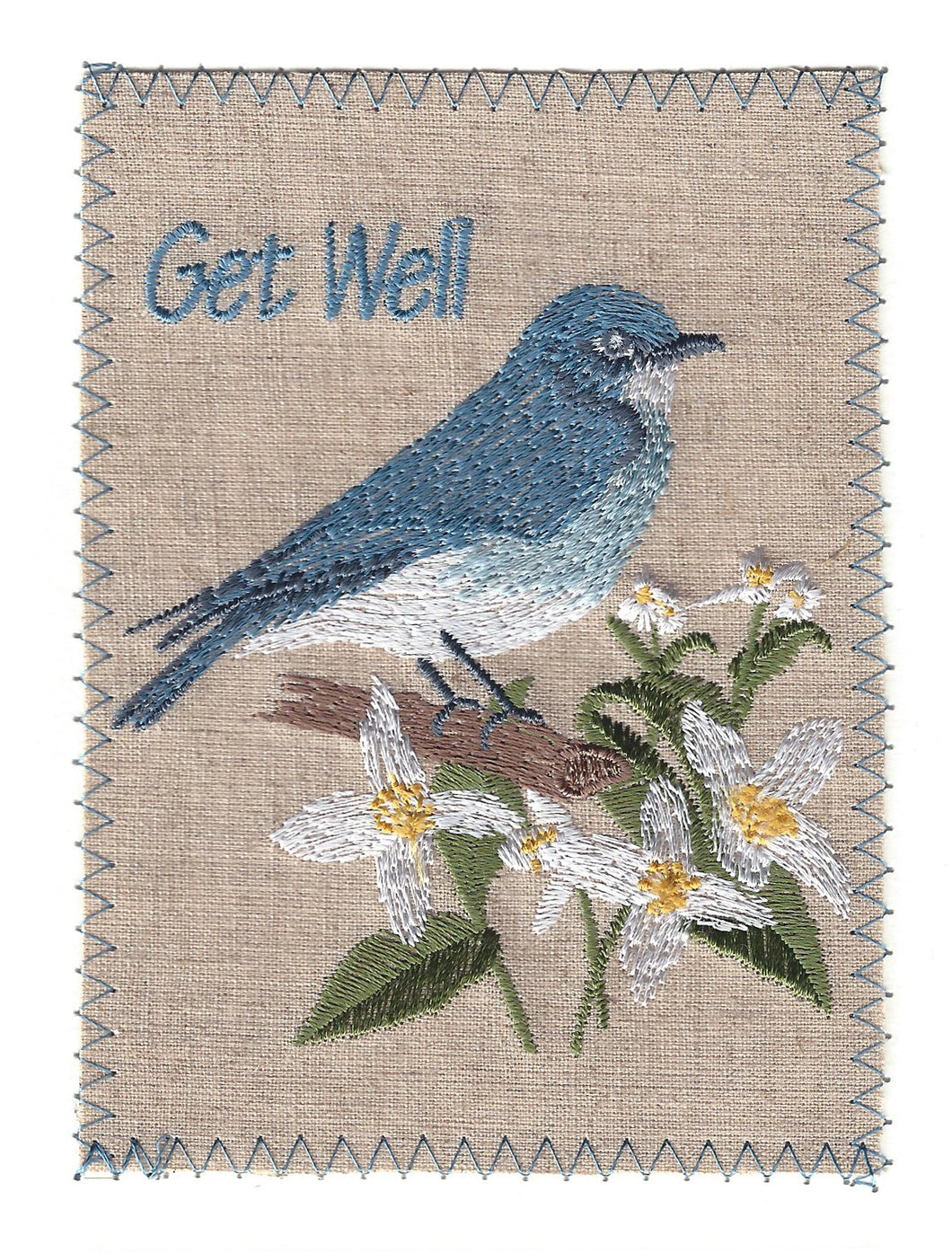 First Rate Embroidered Blue Bird - GW238P