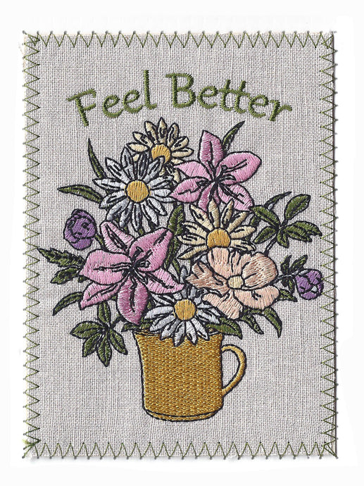 Get Well cup of wildflowers - GW277P