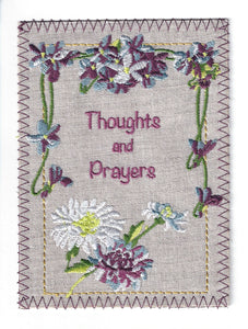 Thoughts and Prayers with Embroidered Flowers - S231P