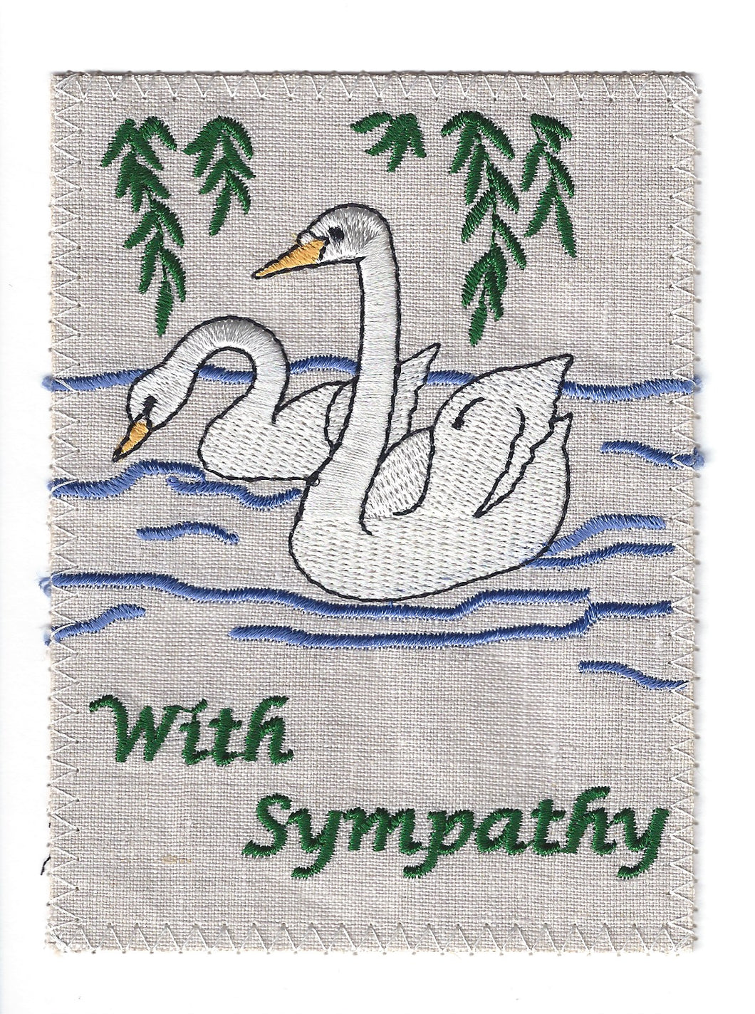 Peaceful Swans Swimming - S091P