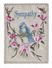 Sympathy  Bluebird with pink flowers -S267P