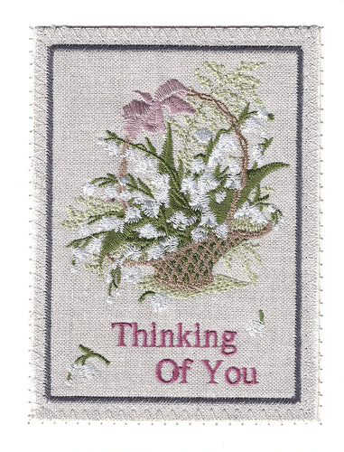 Thinking of You basket of flowers - TOY275P
