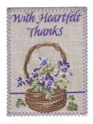 Pretty Brown Wicker Basket Full of Lavender Flowers - TY244P