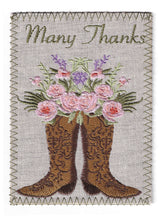 Cowgirl Boots Filled with Pastel Colored Flowers - TY257P