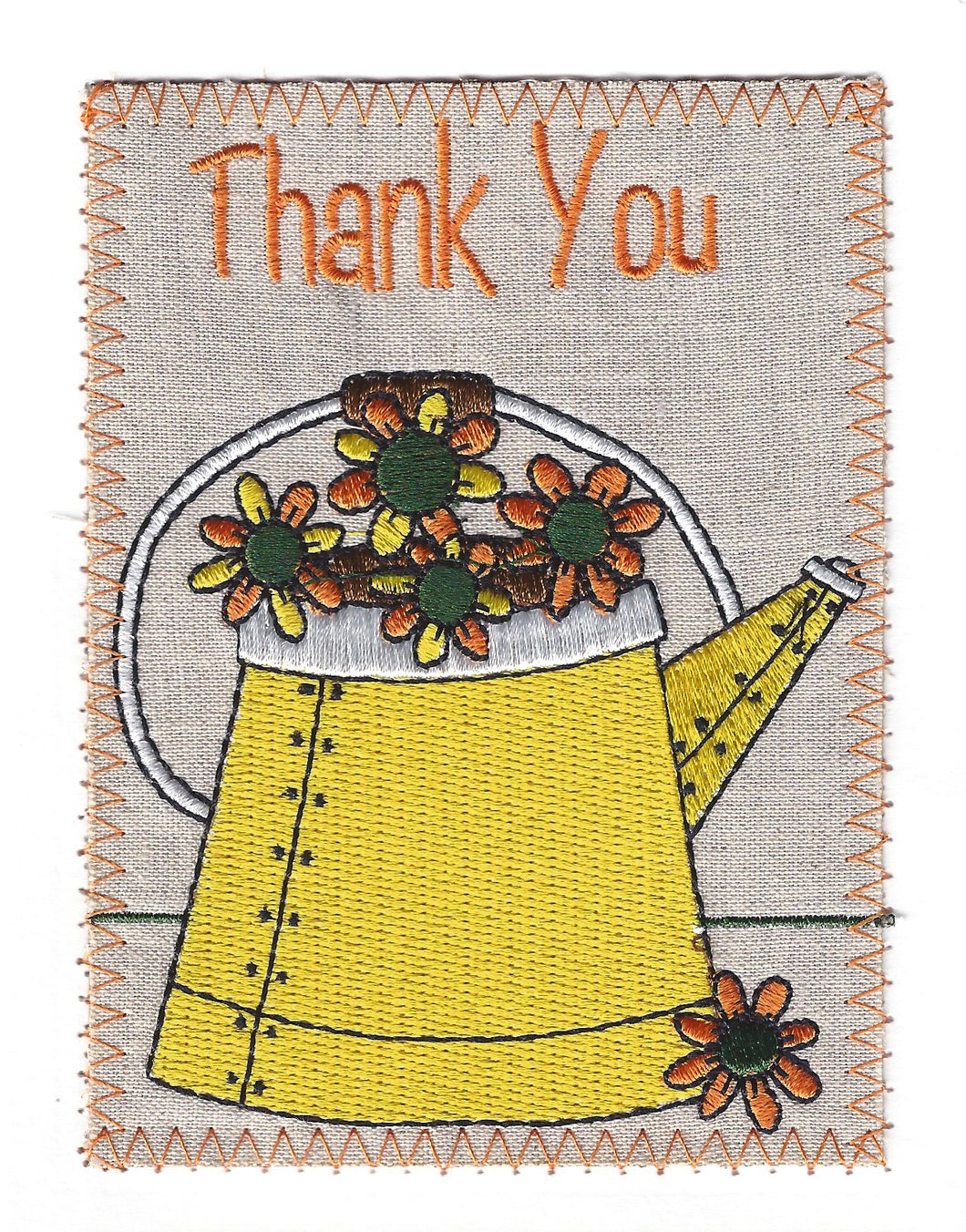 Yellow Watering Can with Yellow and Orange Flowers - TY223P