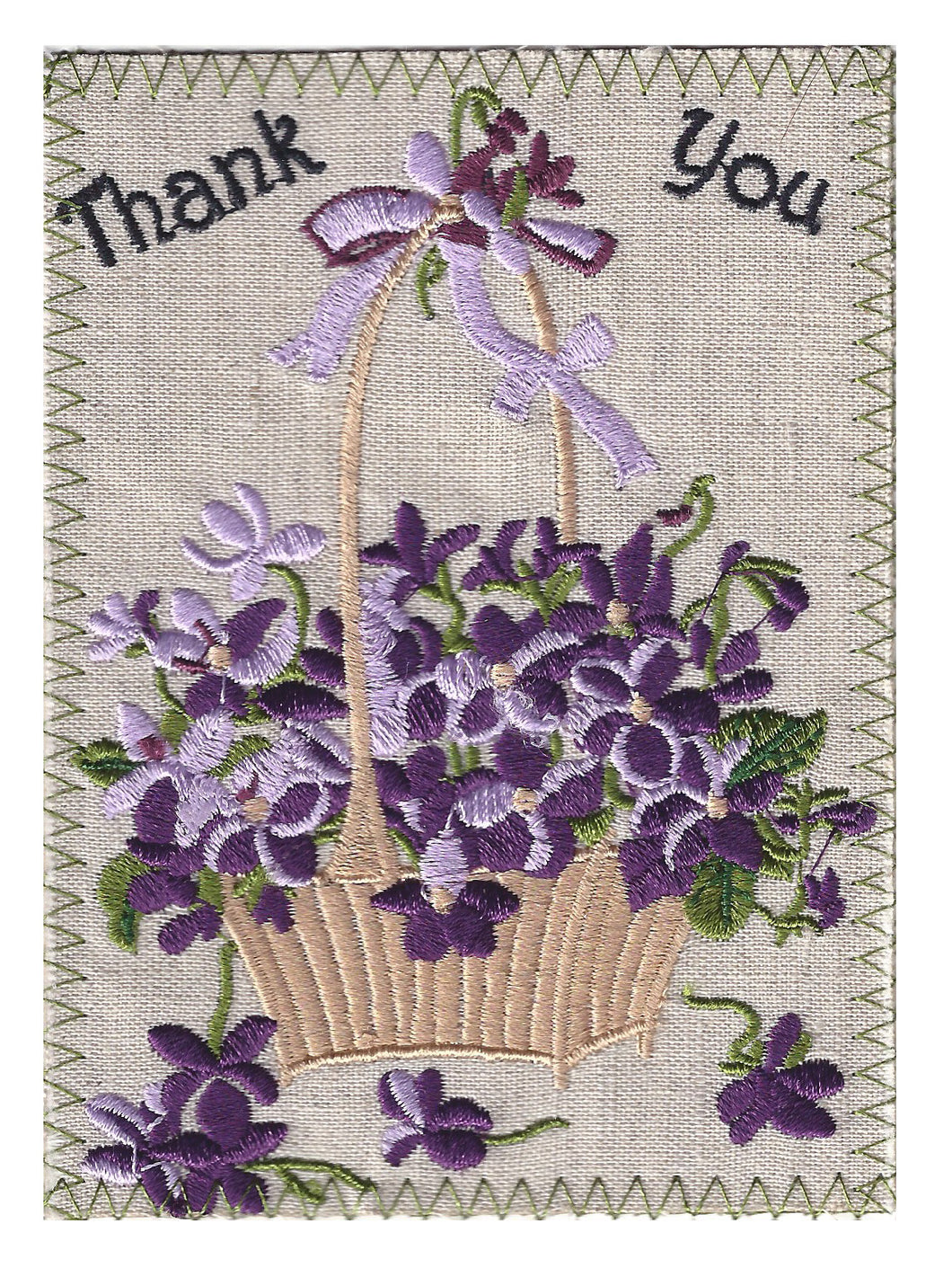Tan Wicker Basket with Lavender Flowers - TY215P