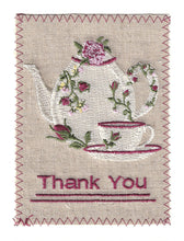 Endearing Embroidered White Teapot and Tea Cup - TY241P