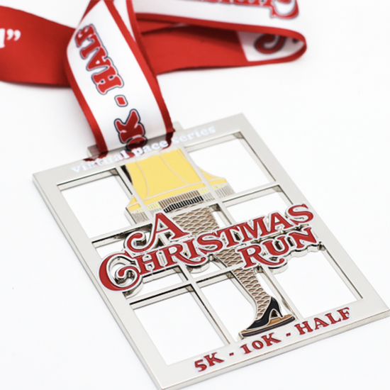 Christmas Running Medals.Events Virtual Pace Series Virtual Races