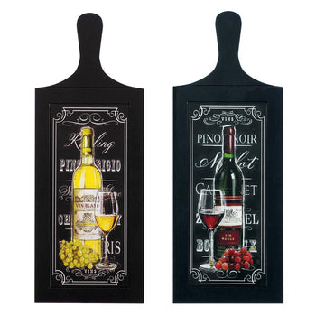 Wine Bottle Wall Art Duo - crazydecor