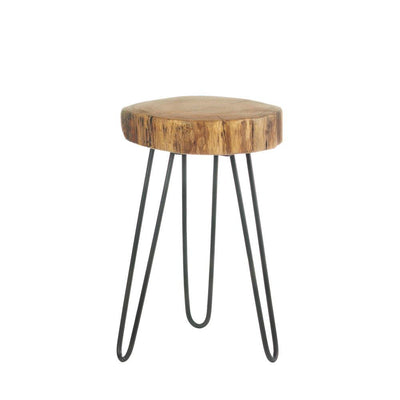 Log Top Accent Table - crazydecor