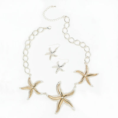 Shimmering Starfish Jewelry Set - crazydecor
