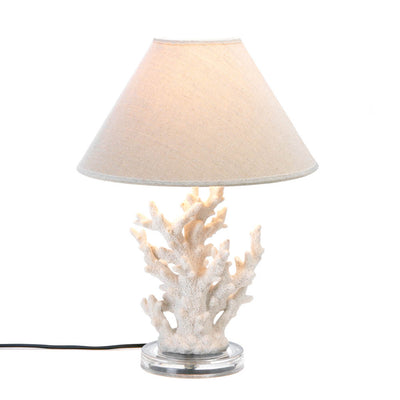 White Coral Table Lamp - crazydecor