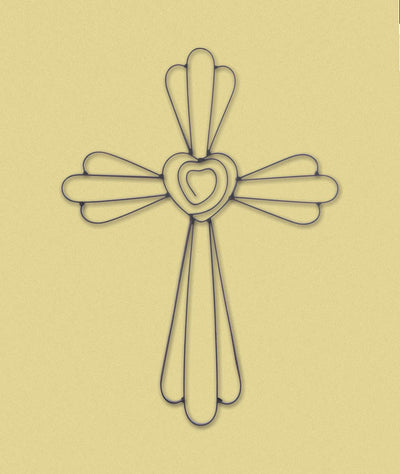 Faith & Love Wall Cross - crazydecor