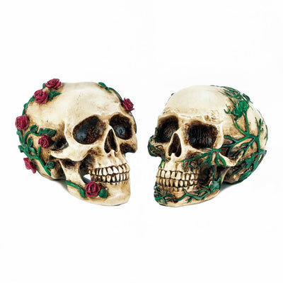 His & Hers Skull Figurines - crazydecor