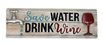 Water & Wine Decorative Sign - crazydecor