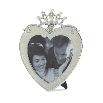 Crown Heart Picture Frame 5 X 5 - crazydecor