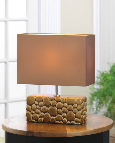 River Rock Table Lamp - crazydecor